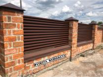 Забор жалюзи коричневый
