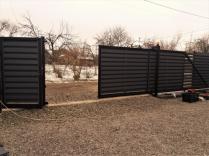 Ворота откатные Ранчо двустороння зашивка